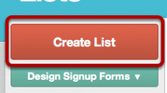 Setting Up a New List in MailChimp